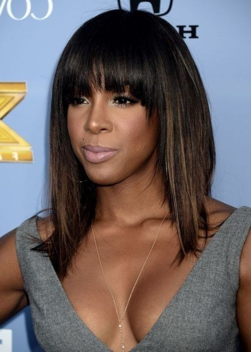 Featured Photo of Long Hairstyles With Bangs For Black Women