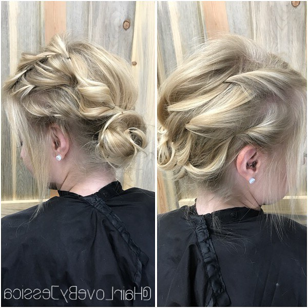 10 New Prom Updo Hair Styles 2019 – Gorgeously Creative New Looks Pertaining To Asymmetrical Knotted Prom Updos (View 21 of 25)