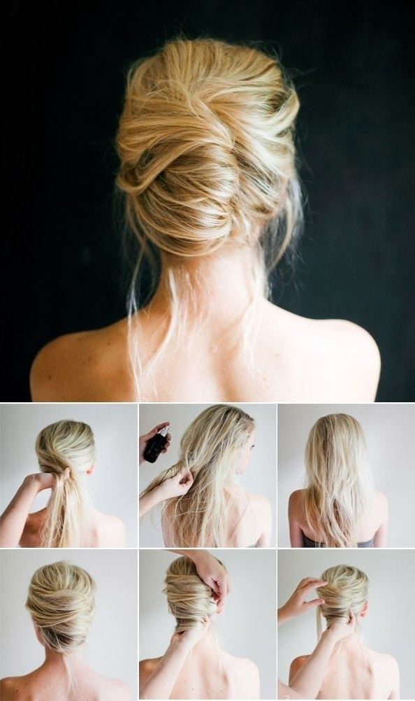 10 Pretty French Twist Updo Hairstyles | Cosmopolitan Wedding Ideas In Twisted Side Roll Prom Updos (View 3 of 25)