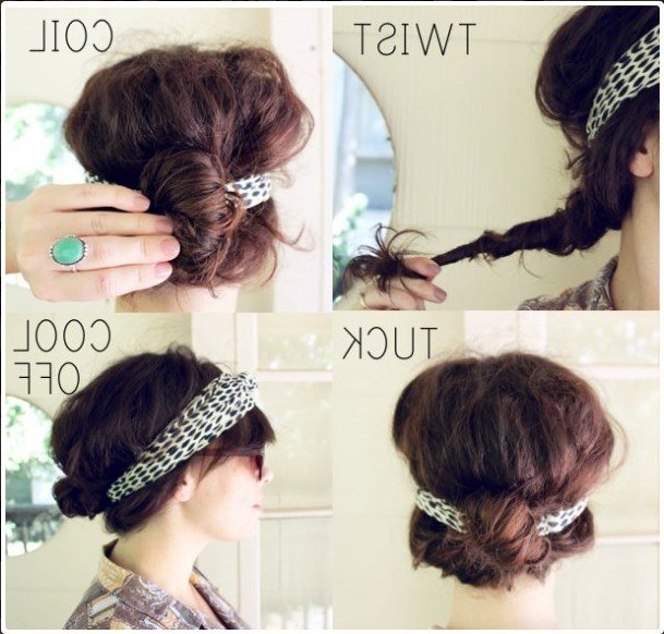 10 Pretty Headband Hairstyle Tutorials – Be Modish Inside Long Hairstyles With Headbands (View 15 of 25)