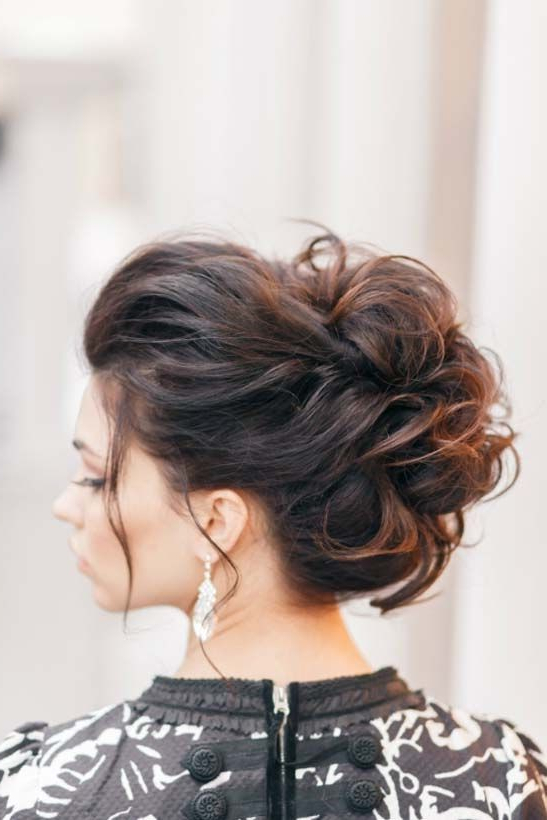 10 Pretty Messy Updos For Long Hair: Updo Hairstyles 2019 Throughout Long Hairstyles Pinned Up (View 6 of 25)