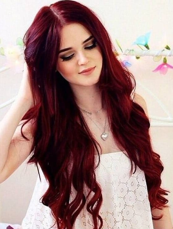 10 Ravishing Red Hairstyles For Mesmerizing Green Eyed Girls With Long Hairstyles Redheads (View 25 of 25)