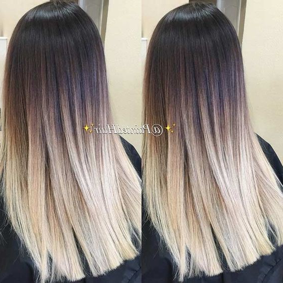 10 Stylish Hair Color Ideas 2019: Ombre And Balayage Hair Styles For Long Thick Black Hairstyles With Light Brown Balayage (View 9 of 25)