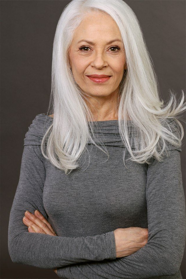10 Top Fall Hairstyles Inspiredfashion Show | White Hair Girl Inside Long Hairstyles For Grey Haired Woman (View 23 of 25)