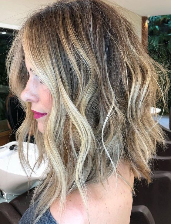 10 Top Shoulder Length Hairstyles – Wavy Hair, Women Medium Haircut 2019 Pertaining To Choppy Dimensional Layers For Balayage Long Hairstyles (View 6 of 25)