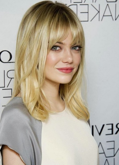 10 Trendy Ideas For Medium Hairstyles With Bangs – Popular Haircuts Throughout Long Hairstyles For Fine Hair With Bangs (View 18 of 25)