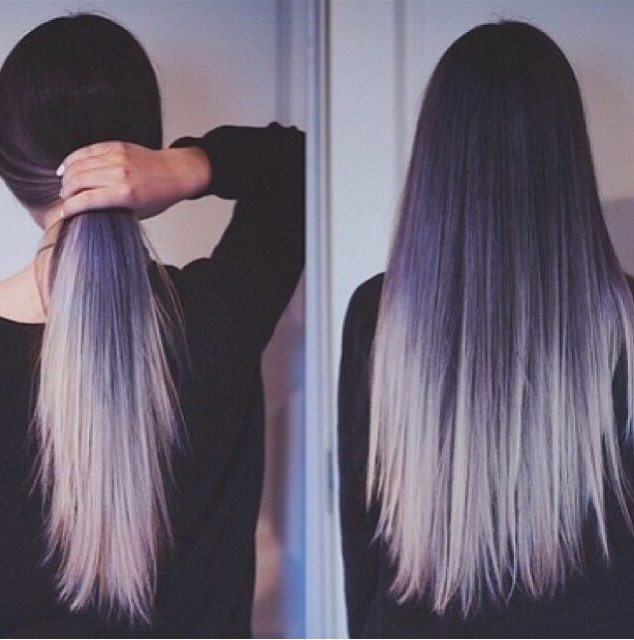 10 Two Tone Hair Colour Ideas To 'dye For'! – Popular Haircuts For Long Hairstyles Dyed (View 5 of 25)