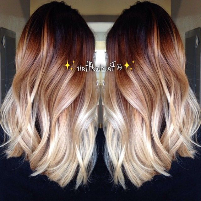 10 Two Tone Hair Colour Ideas To 'dye For'! – Popular Haircuts Inside Long Hairstyles Dyed (View 13 of 25)