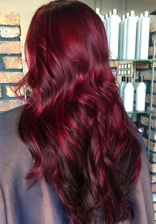 100 Badass Red Hair Colors: Auburn, Cherry, Copper, Burgundy Hair In Long Hairstyles For Red Hair (View 15 of 25)