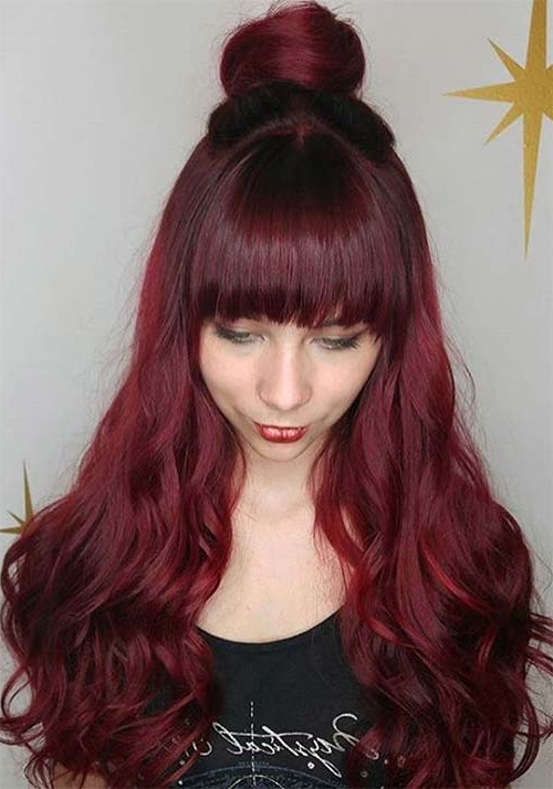 100 Badass Red Hair Colors: Auburn, Cherry, Copper, Burgundy Hair Pertaining To Long Hairstyles Red Hair (View 11 of 25)