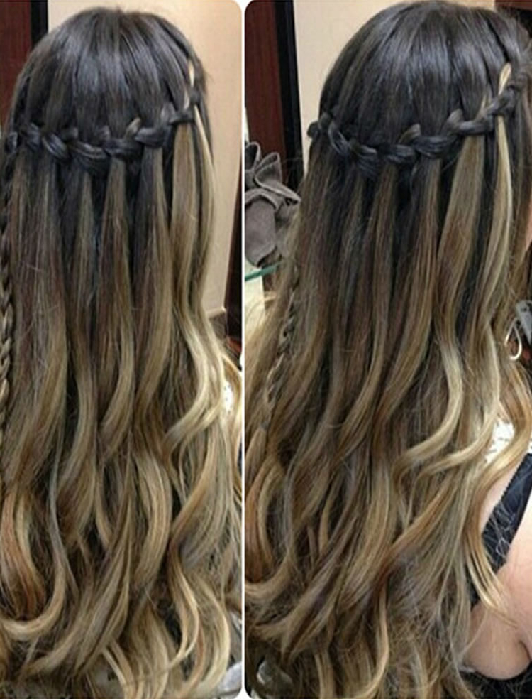 100 Chic Waterfall Braid Hairstyles – How To Stepstep Images Intended For Chic Waterfall Braid Prom Updos (View 16 of 25)