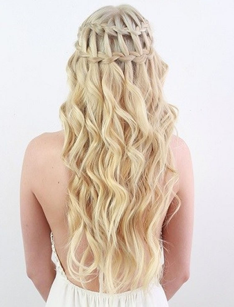100 Chic Waterfall Braid Hairstyles – How To Stepstep Images Intended For Chic Waterfall Braid Prom Updos (View 4 of 25)