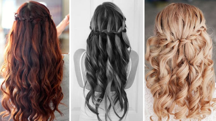 100 Chic Waterfall Braid Hairstyles – How To Stepstep Images Pertaining To Chic Waterfall Braid Prom Updos (View 22 of 25)