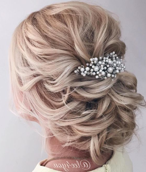 100 Most Pinned Beautiful Wedding Updos Like No Other | Wedding Pertaining To Low Pearled Prom Updos (View 6 of 25)
