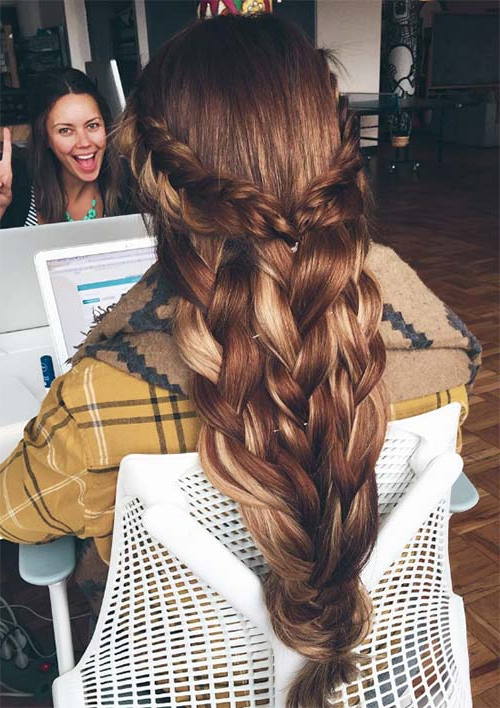 100 Ridiculously Awesome Braided Hairstyles To Inspire You In Long Hairstyles Plaits (View 7 of 25)