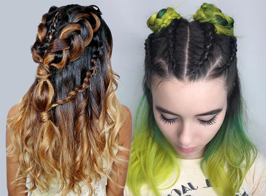 100 Ridiculously Awesome Braided Hairstyles To Inspire You Inside Braided And Twisted Off Center Prom Updos (View 22 of 25)