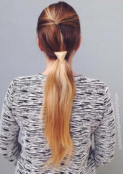 100 Trendy Long Hairstyles For Women: Asymmetrical Ponytail Regarding Long Hairstyles Dos (View 16 of 25)