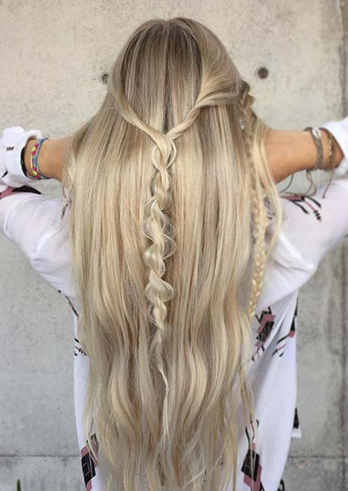 100 Trendy Long Hairstyles For Women To Try In 2017 | Fashionisers© Pertaining To Half Up Hairstyles For Long Straight Hair (View 13 of 25)