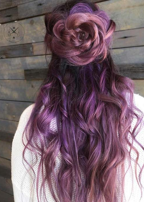100 Trendy Long Hairstyles For Women To Try In 2017 | Fashionisers© Throughout Purple Long Hairstyles (View 11 of 25)