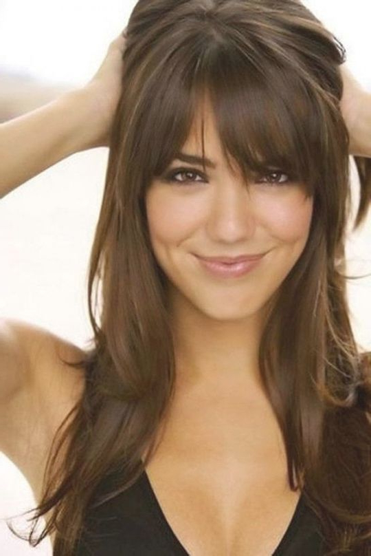 1000 Ideas About Bangs Long Hair On Pinterest | Side Bangs Long Throughout Long Hairstyles Side Bangs (View 4 of 25)