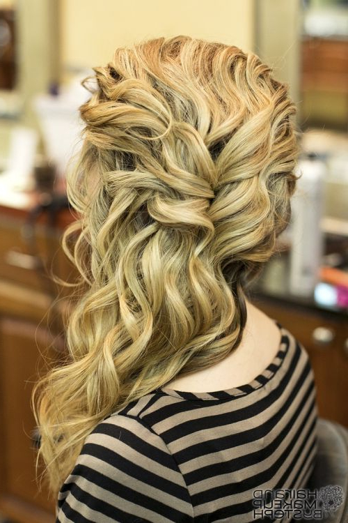 101 Chic Side Swept Hairstyles To Help You Look Younger – Part 2 Inside Side Swept Brunette Waves Hairstyles For Prom (View 11 of 25)