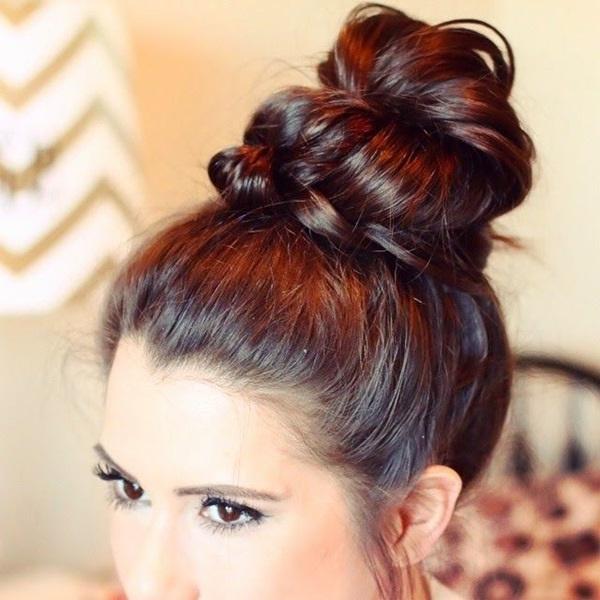 101 Cute & Easy Bun Hairstyles For Long Hair And Medium Hair Regarding Long Hairstyles Buns (View 18 of 25)