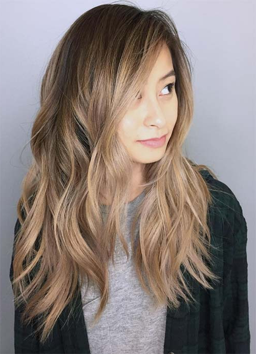 101 Layered Haircuts & Hairstyles For Long Hair Spring 2017 For Heavily Layered Face Framing Strands Long Hairstyles (View 2 of 25)