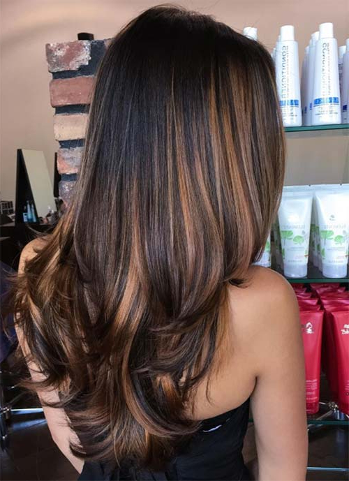 101 Layered Haircuts & Hairstyles For Long Hair Spring 2017 In Black And Brown Layered Haircuts For Long Hair (View 17 of 25)