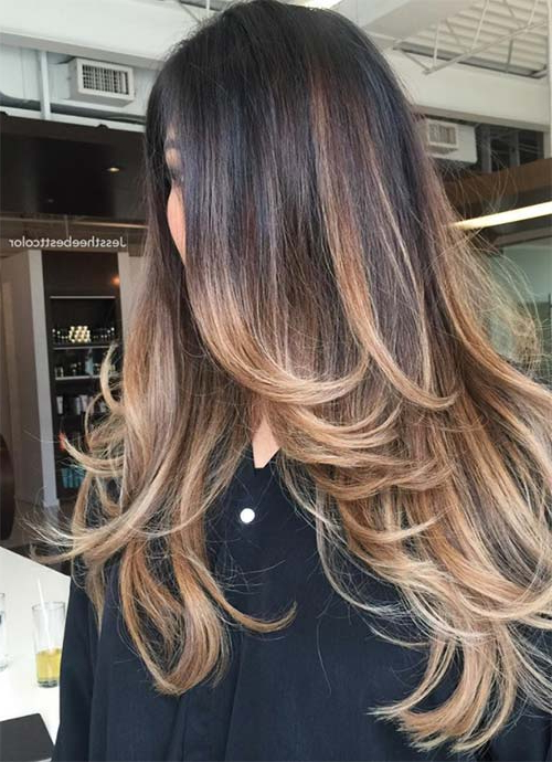 101 Layered Haircuts & Hairstyles For Long Hair Spring 2017 Pertaining To Long Layered Ombre Hairstyles (View 5 of 25)