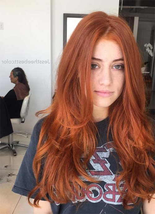 101 Layered Haircuts & Hairstyles For Long Hair Spring 2017 Pertaining To Red Long Hairstyles (View 5 of 25)