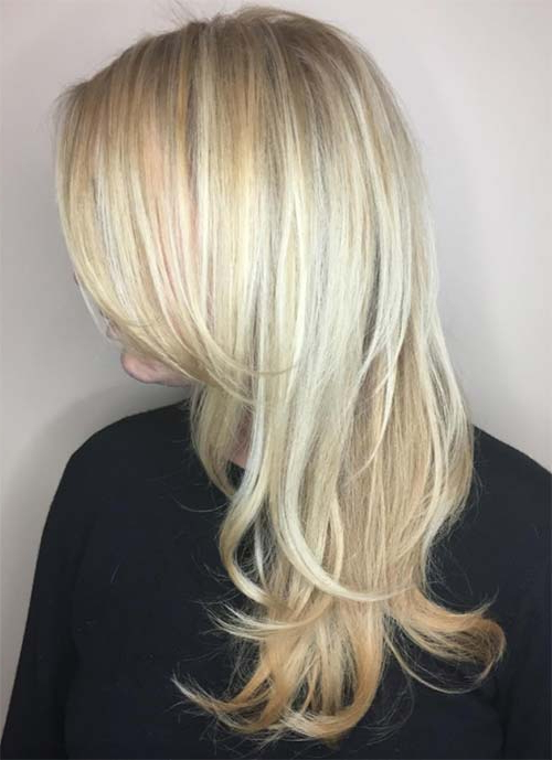 101 Layered Haircuts & Hairstyles For Long Hair Spring 2017 With Regard To Blonde Textured Haircuts With Angled Layers (View 15 of 25)