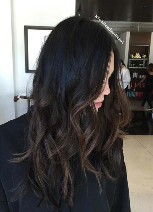 101 Layered Haircuts & Hairstyles For Long Hair Spring 2017 With Regard To Long Hairstyles Dark Brown (View 14 of 25)
