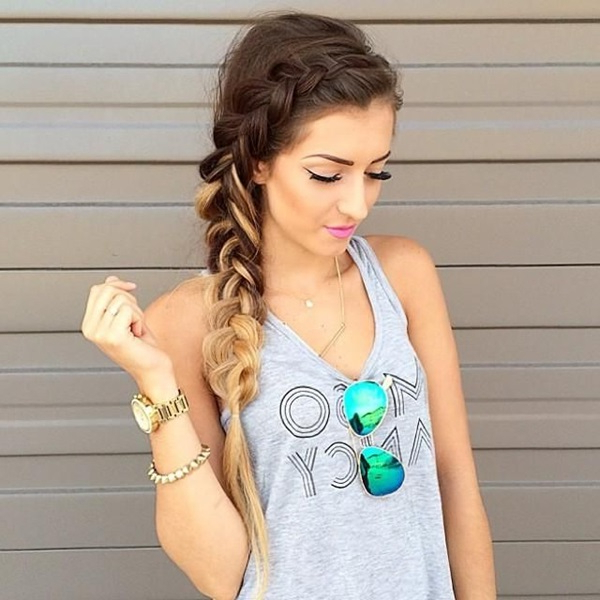 101 Romantic Braided Hairstyles For Long Hair And Medium Hair Within Casual Braids For Long Hair (View 21 of 25)