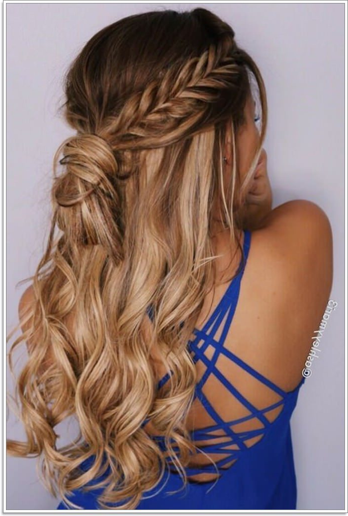 102 Best Diy Hairstyles For Long Hair For Braid And Fluffy Bun Prom Hairstyles (View 19 of 25)