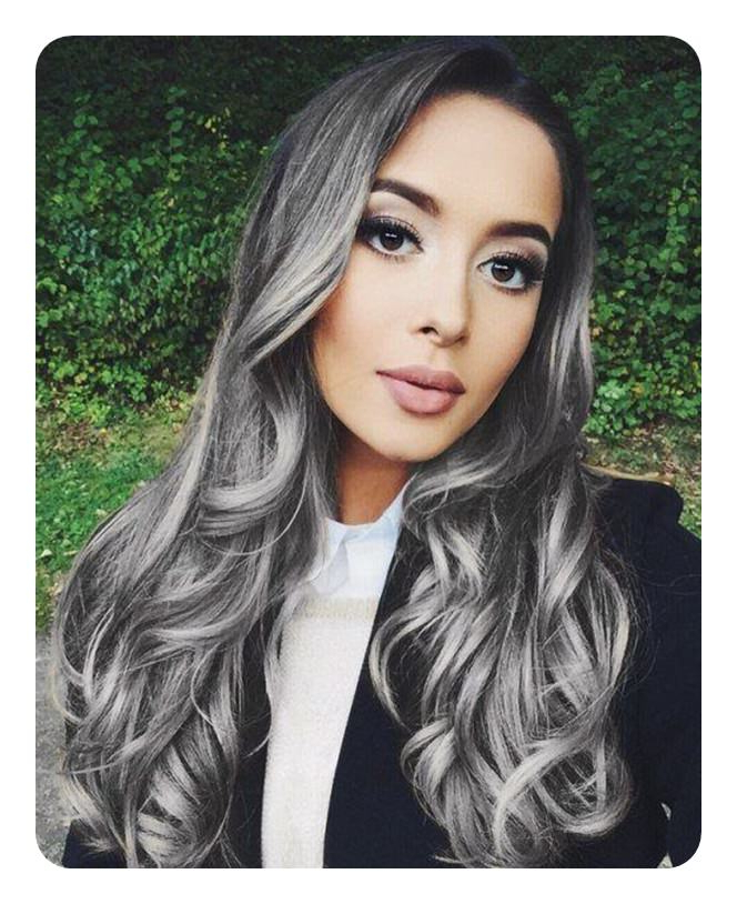 104 Long And Short Grey Hairstyles 2019 – Style Easily In Long Hairstyles For Grey Haired Woman (View 16 of 25)