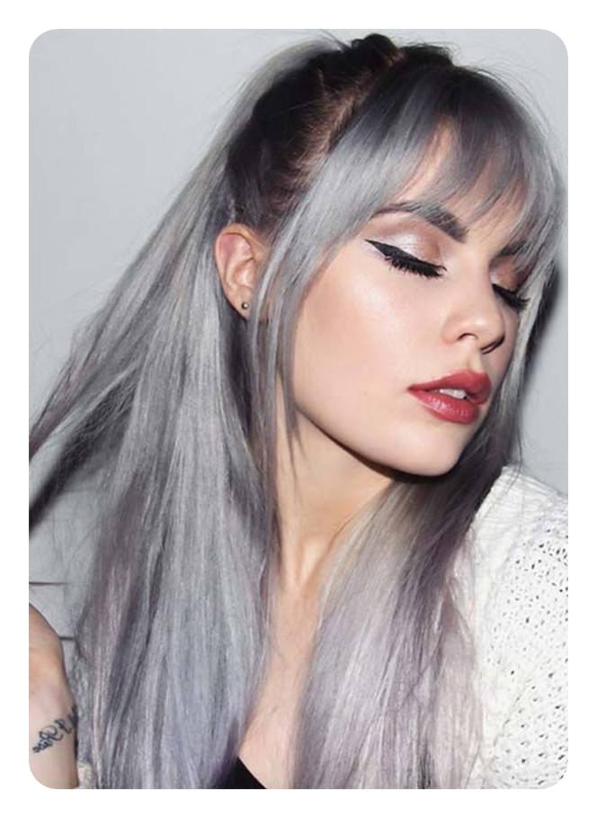 104 Long And Short Grey Hairstyles 2019 – Style Easily Intended For Long Hairstyles For Gray Hair (View 25 of 25)