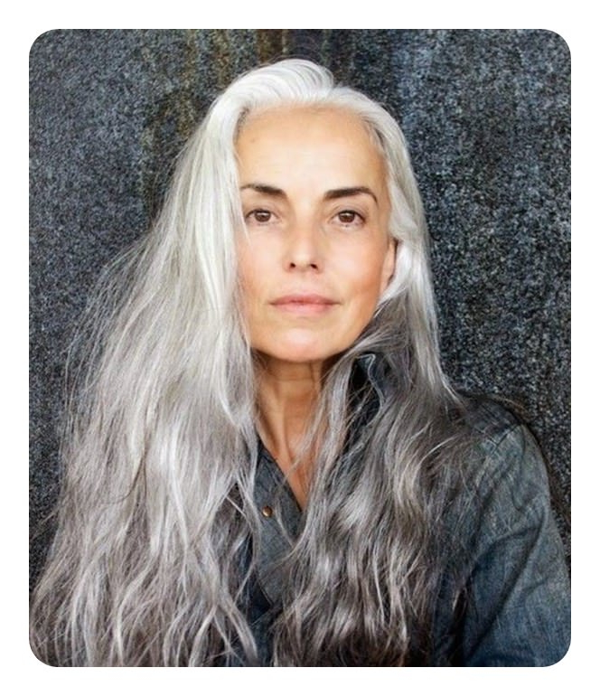 104 Long And Short Grey Hairstyles 2019 – Style Easily Throughout Long Hairstyles For Grey Haired Woman (View 8 of 25)