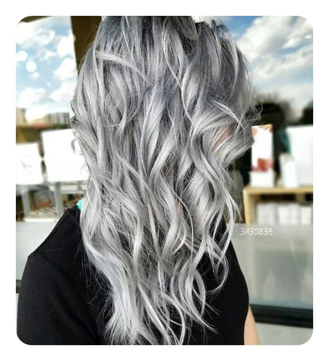104 Long And Short Grey Hairstyles 2019 – Style Easily With Regard To Long Hairstyles For Gray Hair (View 22 of 25)