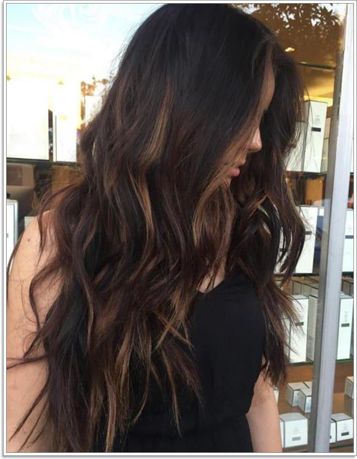 108 Caramel Highlights That'll Blow Your Mind [2019] Throughout Long Dark Hairstyles With Blonde Contour Balayage (View 17 of 25)