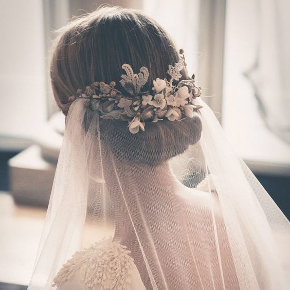 11 Beautiful Veils To Match Your Bridal Hairstyle Within Long Hairstyles Veils Wedding (View 24 of 25)