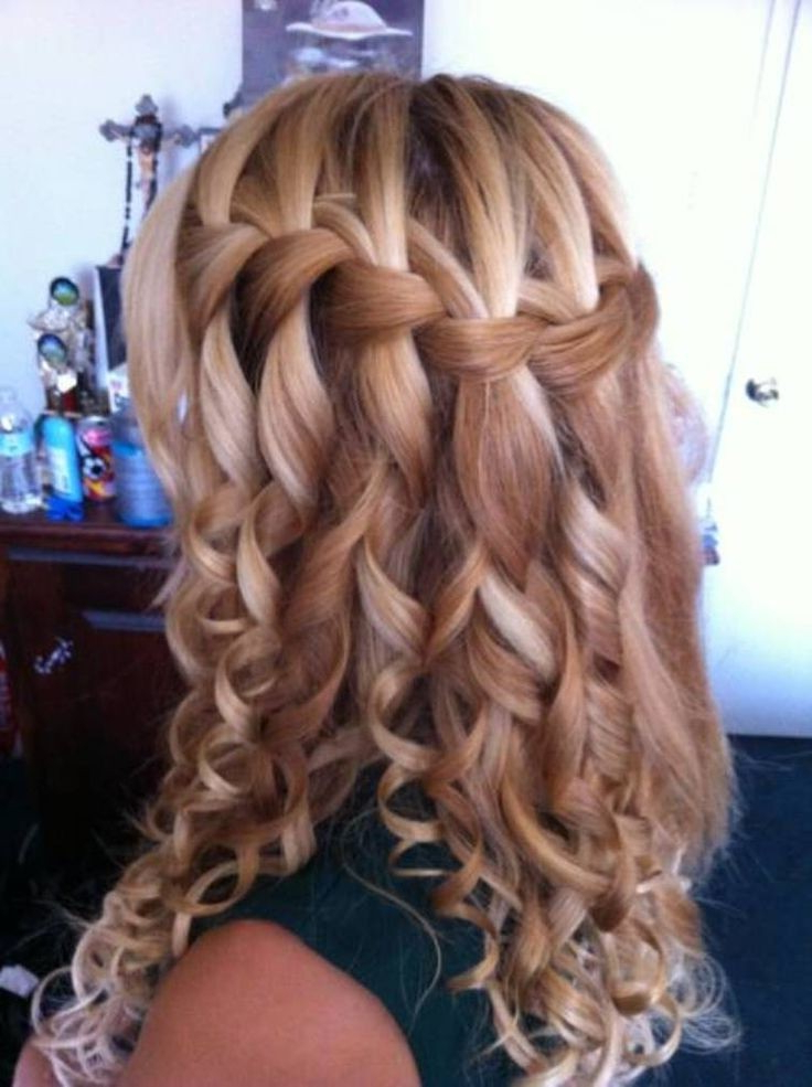 11 Waterfall French Braid Hairstyles: Long Hair Ideas – Popular Haircuts Within Long Curly Braided Hairstyles (View 6 of 25)