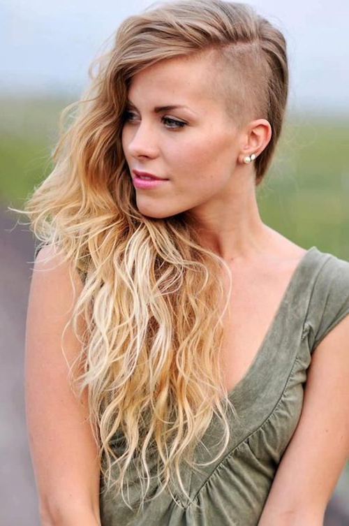 11+ Womens Shaved Side Long Hairstyles – Long Hairstyle – Beautiful Intended For Long Hairstyles Shaved Side (View 8 of 25)