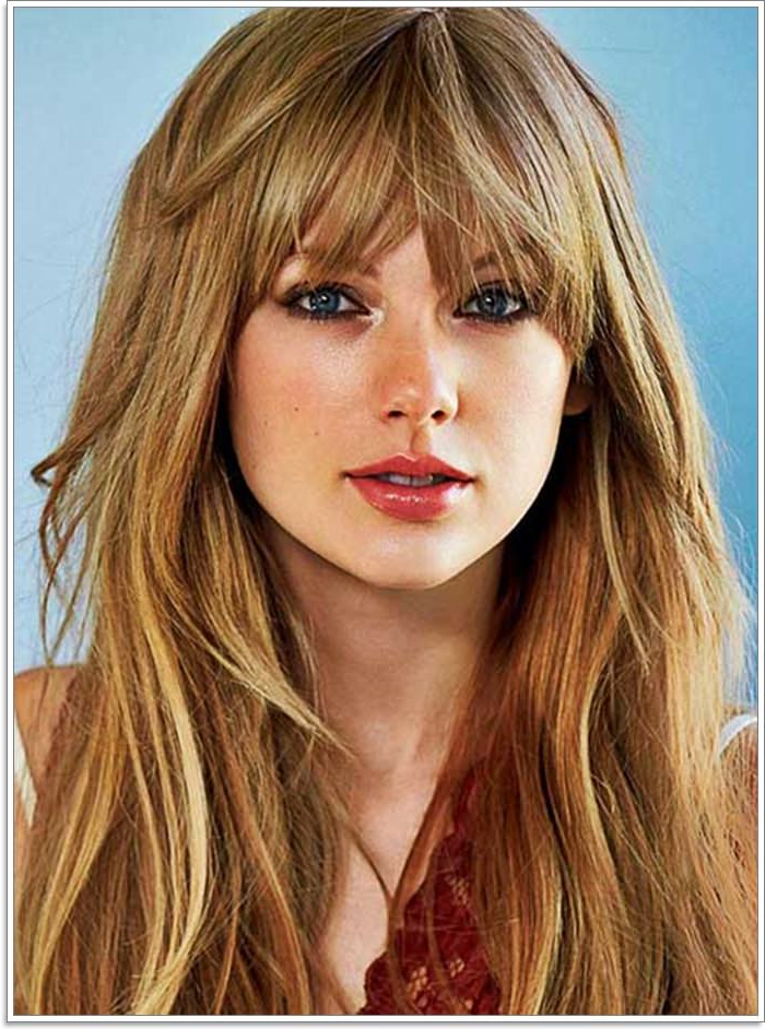 111 Hairstyles With Different Bangs Within Long Layered Waves And Cute Bangs Hairstyles (View 9 of 25)