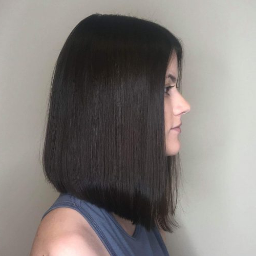114 Top Shoulder Length Hair Ideas To Try (Updated For 2019) Inside One Length Long Haircuts (View 19 of 25)