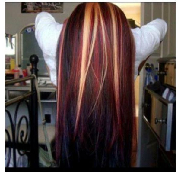 12 Beautiful Blonde Hairstyles With Red Highlights – Pretty Designs In Long Hairstyles Red Highlights (View 15 of 25)