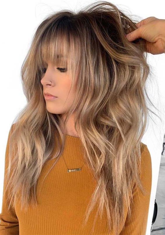12 Best Long Balayage Hairstyles With Bangs In 2019 | Absurd Styles Regarding Long Haircuts Styles With Bangs (View 24 of 25)