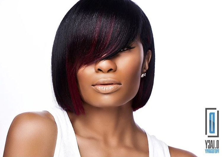 12 Bob Haircuts And Hairstyles For Every Modern Woman Within Long Bob Hairstyles With Bangs Weave (View 11 of 25)
