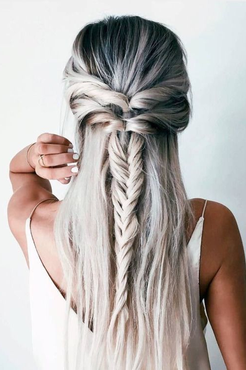 12 Chic Hairstyles For Long Straight Hair | My Hair | Hair Styles With Braid Spikelet Prom Hairstyles (View 13 of 25)