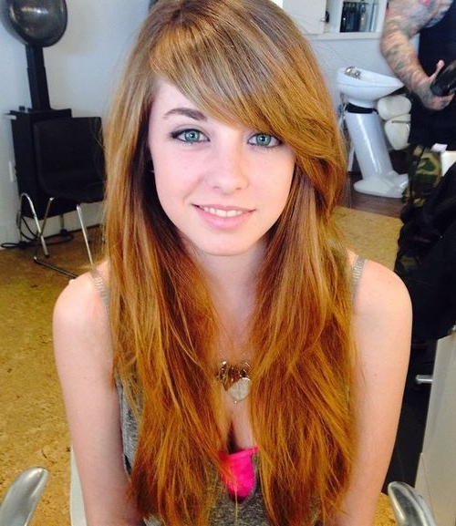 12 Hairstyles With Side Bangs | Hairstyles Ideas For Long Haircuts Layers And Side Bangs (View 18 of 25)