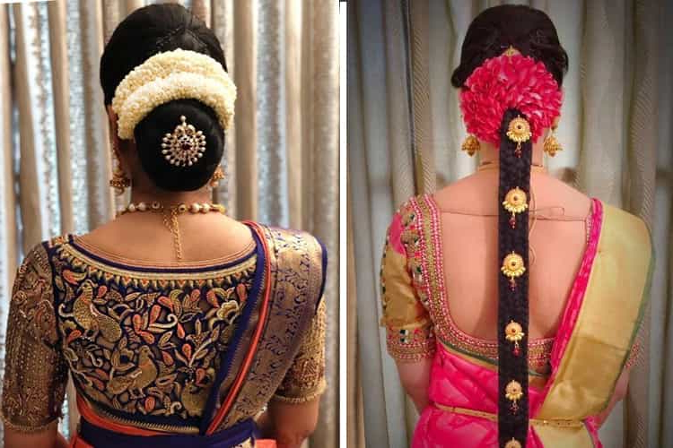 12 Popular South Indian Bridal Hairstyles With Regard To Indian Bridal Long Hairstyles (View 4 of 25)